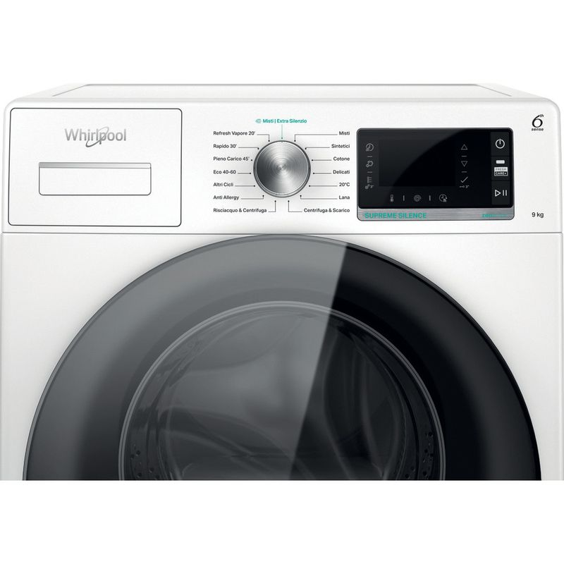 Whirlpool-Lavabiancheria-A-libera-installazione-W6-W945WB-IT-Bianco-Carica-frontale-B-Control-panel