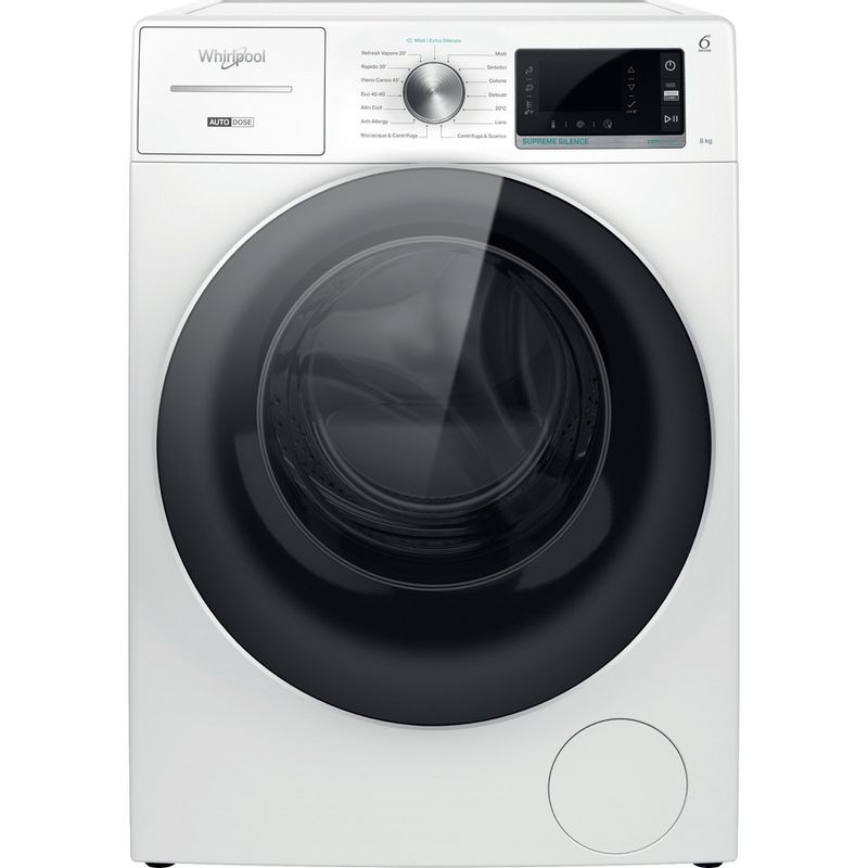 Whirlpool-Lavabiancheria-A-libera-installazione-W7X-W845WR-IT-Bianco-Carica-frontale-B-Frontal