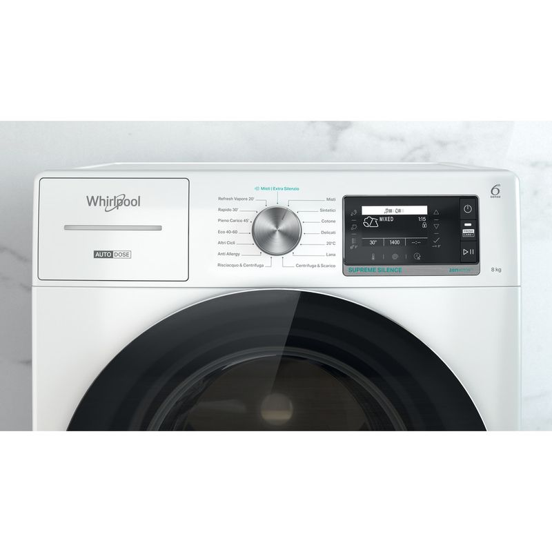 Whirlpool-Lavabiancheria-A-libera-installazione-W7X-W845WR-IT-Bianco-Carica-frontale-B-Control-panel