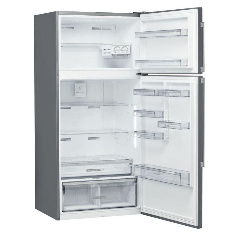 Whirlpool-Combinazione-Frigorifero-Congelatore-A-libera-installazione-W84TE-72-X-2-Inox-2-porte-Perspective-open
