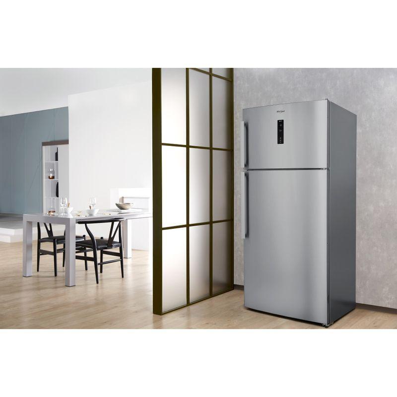 Whirlpool-Combinazione-Frigorifero-Congelatore-A-libera-installazione-W84TE-72-X-2-Inox-2-porte-Lifestyle-perspective