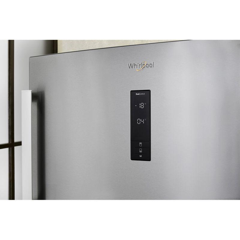 Whirlpool-Combinazione-Frigorifero-Congelatore-A-libera-installazione-W84TE-72-X-2-Inox-2-porte-Lifestyle-control-panel