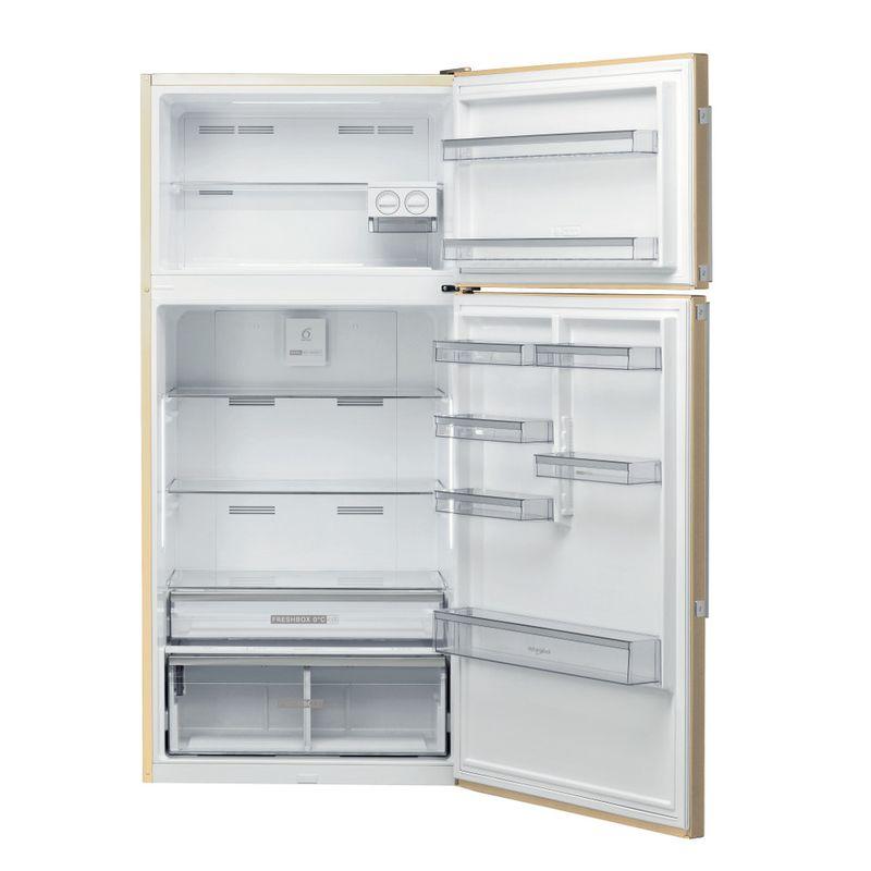 Whirlpool-Combinazione-Frigorifero-Congelatore-A-libera-installazione-W84TE-72-M-2-Marble-2-porte-Frontal-open