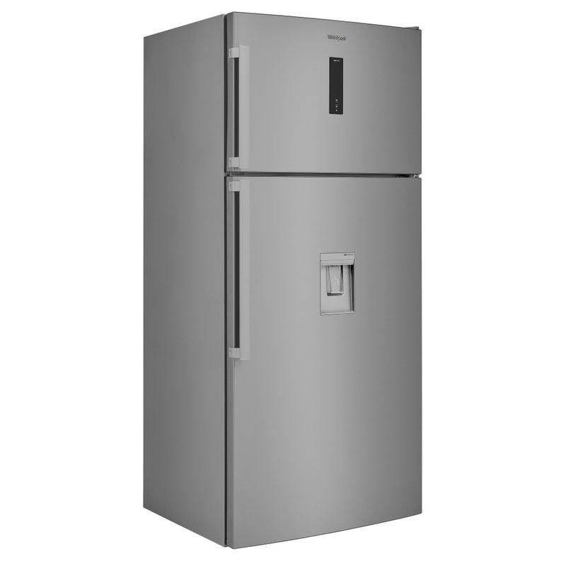 Whirlpool-Combinazione-Frigorifero-Congelatore-A-libera-installazione-W84TE-72-X-AQUA-2-Inox-2-porte-Perspective