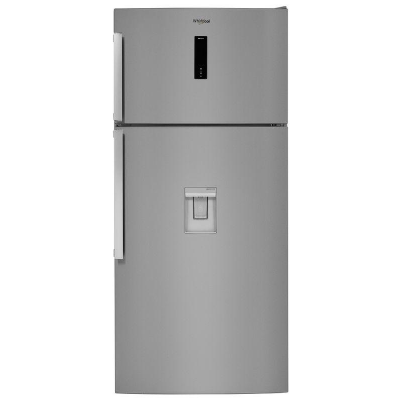 Whirlpool-Combinazione-Frigorifero-Congelatore-A-libera-installazione-W84TE-72-X-AQUA-2-Inox-2-porte-Frontal