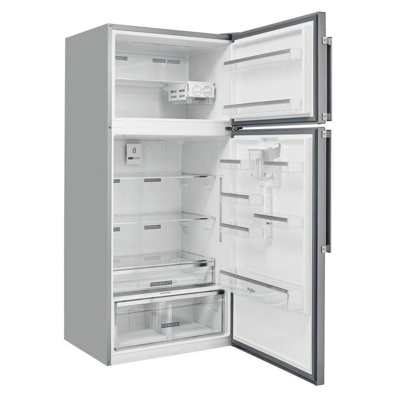 Whirlpool-Combinazione-Frigorifero-Congelatore-A-libera-installazione-W84TE-72-X-AQUA-2-Inox-2-porte-Perspective-open