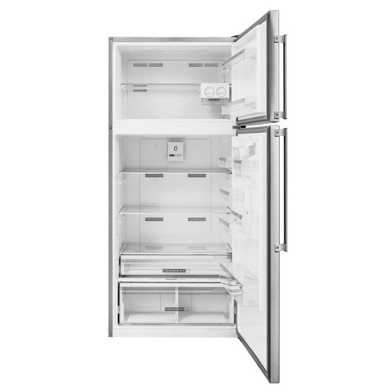 Whirlpool-Combinazione-Frigorifero-Congelatore-A-libera-installazione-W84TE-72-X-AQUA-2-Inox-2-porte-Frontal-open