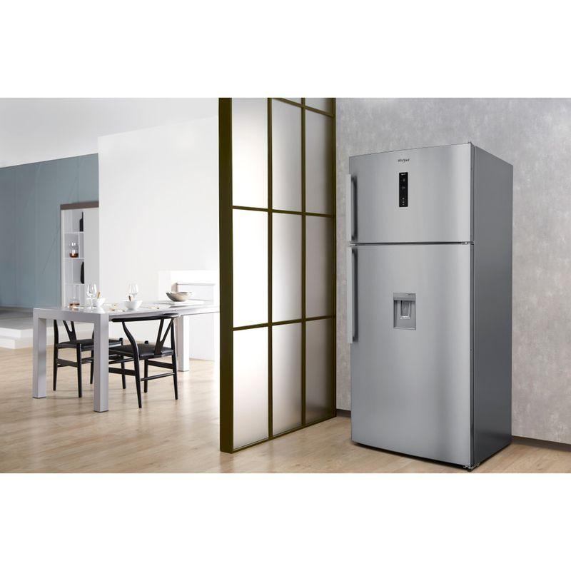 Whirlpool-Combinazione-Frigorifero-Congelatore-A-libera-installazione-W84TE-72-X-AQUA-2-Inox-2-porte-Lifestyle-perspective
