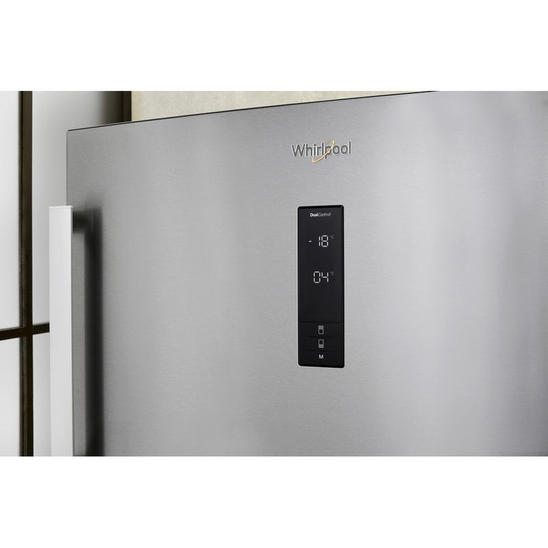 Whirlpool-Combinazione-Frigorifero-Congelatore-A-libera-installazione-W84TE-72-X-AQUA-2-Inox-2-porte-Lifestyle-control-panel