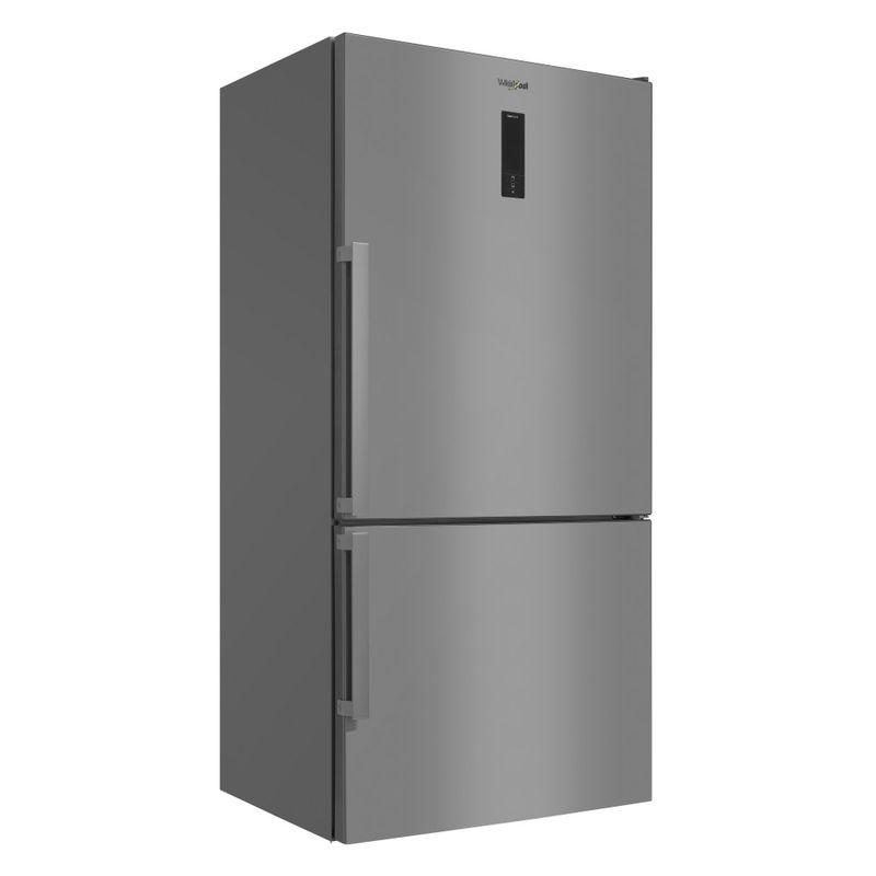 Whirlpool-Combinazione-Frigorifero-Congelatore-A-libera-installazione-W84BE-72-X-2-Inox-2-porte-Perspective