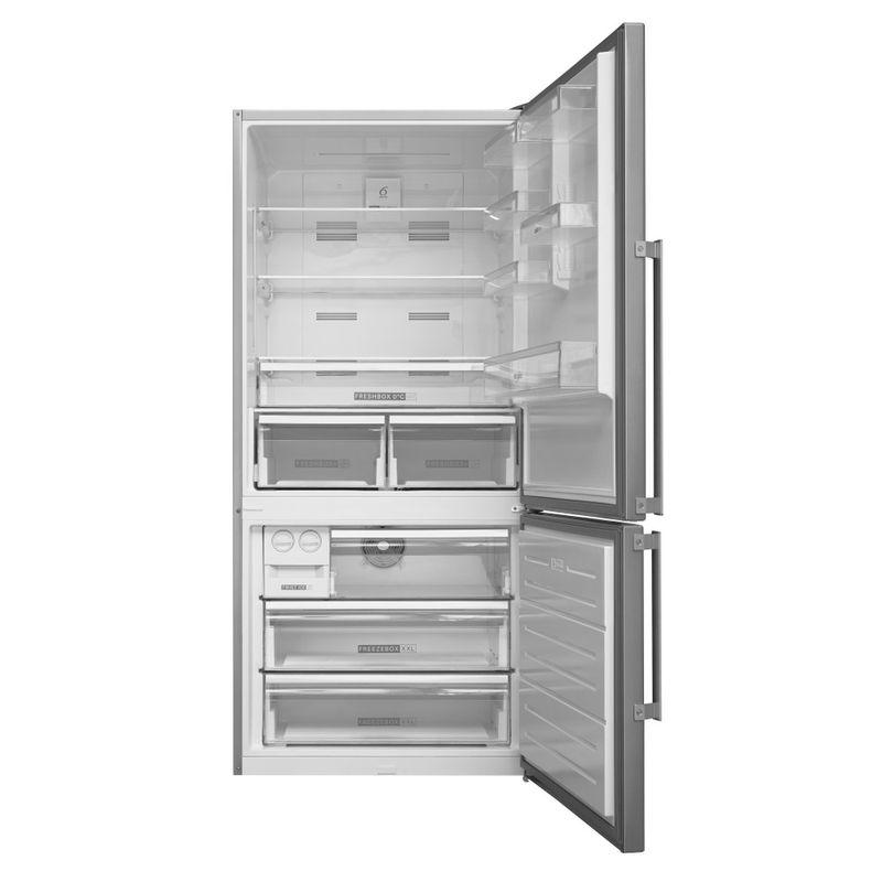 Whirlpool-Combinazione-Frigorifero-Congelatore-A-libera-installazione-W84BE-72-X-2-Inox-2-porte-Frontal-open