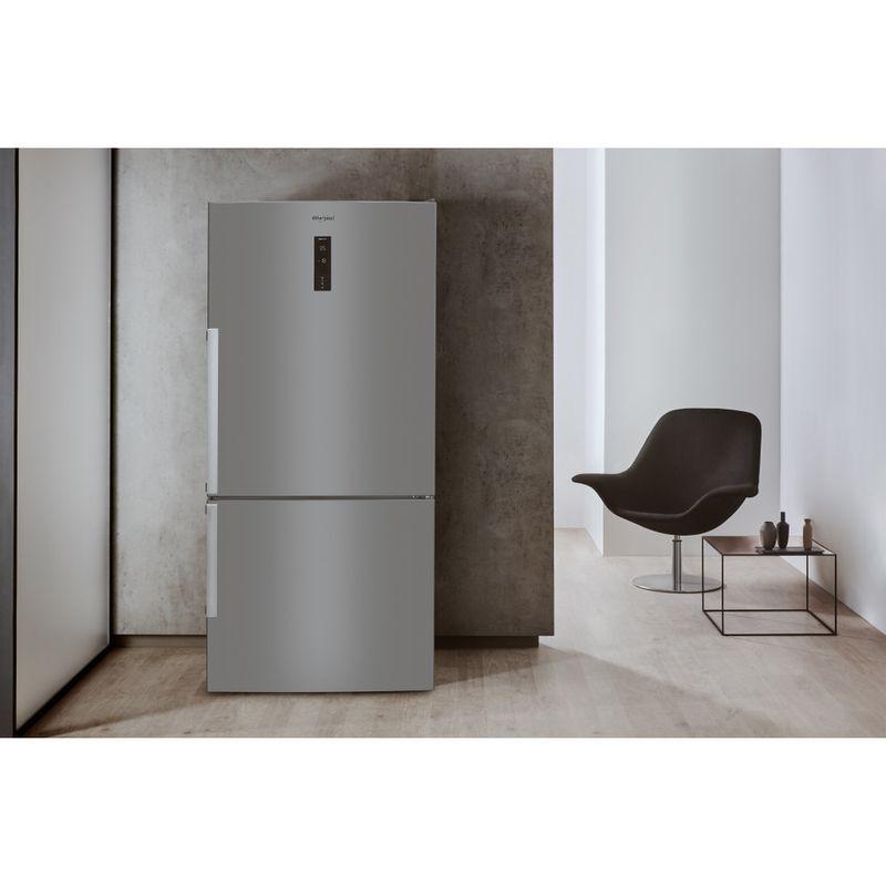 Whirlpool-Combinazione-Frigorifero-Congelatore-A-libera-installazione-W84BE-72-X-2-Inox-2-porte-Lifestyle-frontal