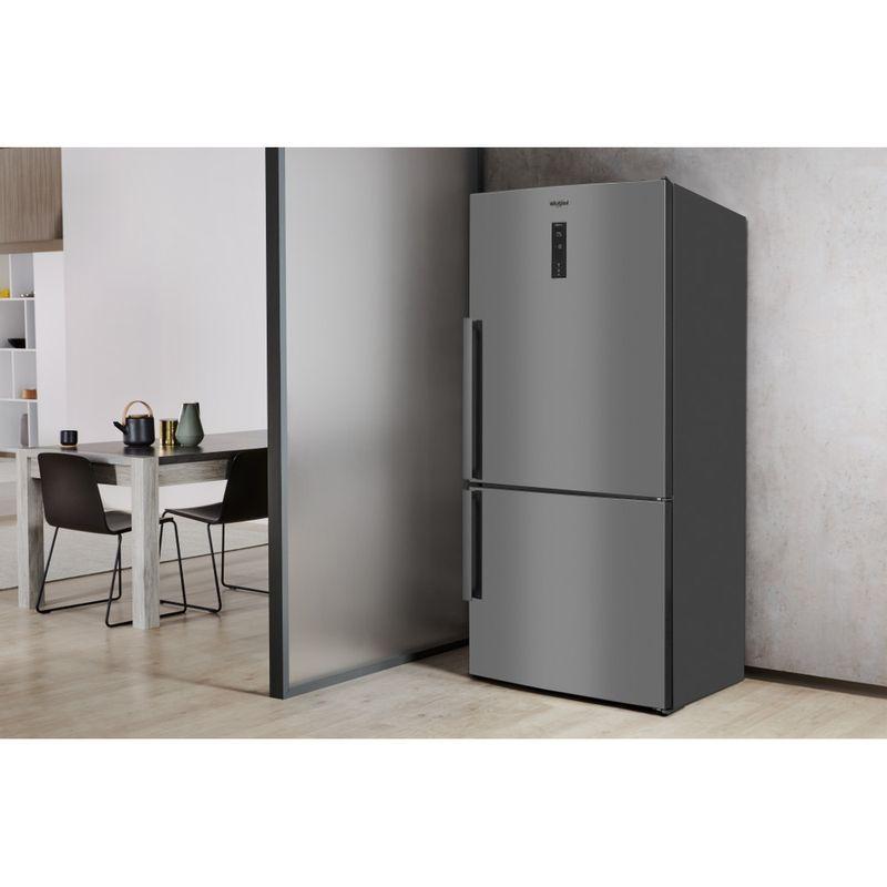 Whirlpool-Combinazione-Frigorifero-Congelatore-A-libera-installazione-W84BE-72-X-2-Inox-2-porte-Lifestyle-perspective