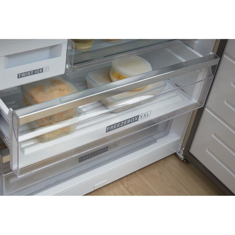 Whirlpool-Combinazione-Frigorifero-Congelatore-A-libera-installazione-W84BE-72-X-2-Inox-2-porte-Drawer