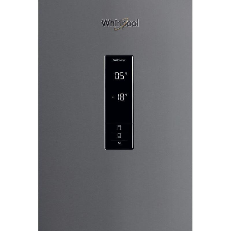 Whirlpool-Combinazione-Frigorifero-Congelatore-A-libera-installazione-W84BE-72-X-2-Inox-2-porte-Control-panel