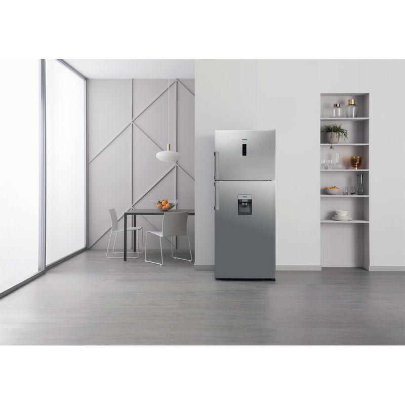 Whirlpool-Combinazione-Frigorifero-Congelatore-A-libera-installazione-WT70E-831-X-AQUA-Optic-Inox-2-porte-Lifestyle-frontal