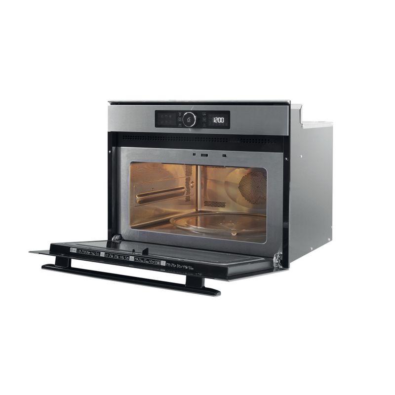 Whirlpool-Microonde-Da-incasso-AMW-508-IX-Stainless-Steel-Elettronico-40-Microonde-combinato-900-Perspective-open