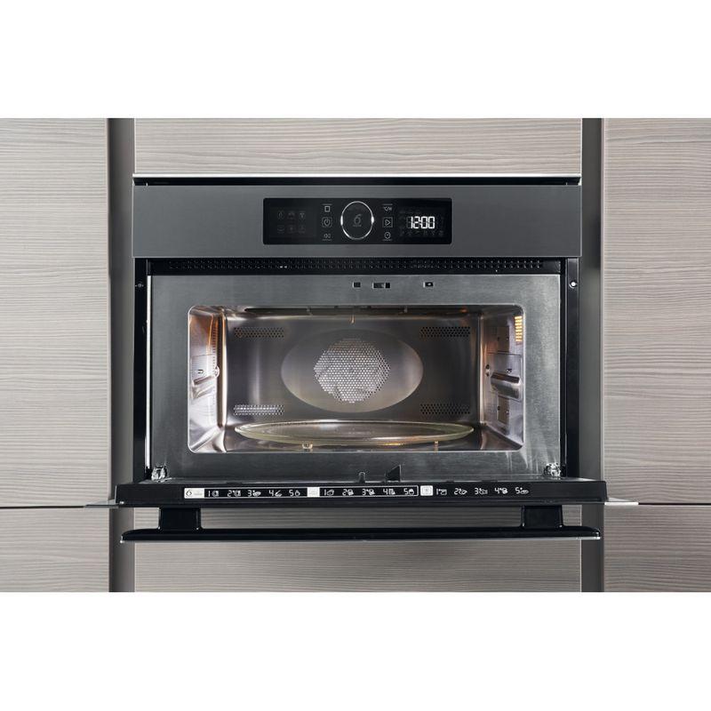 Whirlpool-Microonde-Da-incasso-AMW-508-IX-Stainless-Steel-Elettronico-40-Microonde-combinato-900-Lifestyle-frontal-open