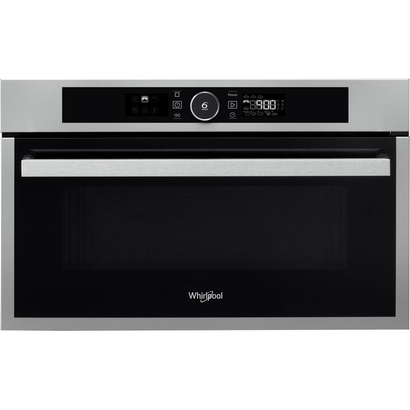 Whirlpool-Microonde-Da-incasso-AMW-731-IX-Stainless-Steel-Elettronico-31-Microonde---grill-1000-Frontal