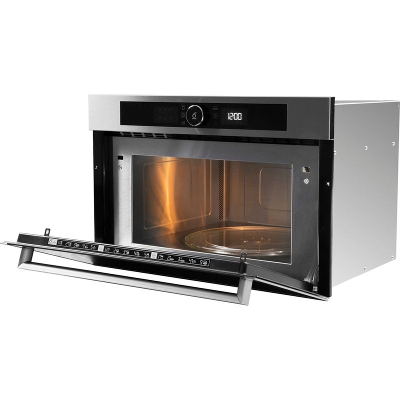 Whirlpool-Microonde-Da-incasso-AMW-731-IX-Stainless-Steel-Elettronico-31-Microonde---grill-1000-Perspective-open