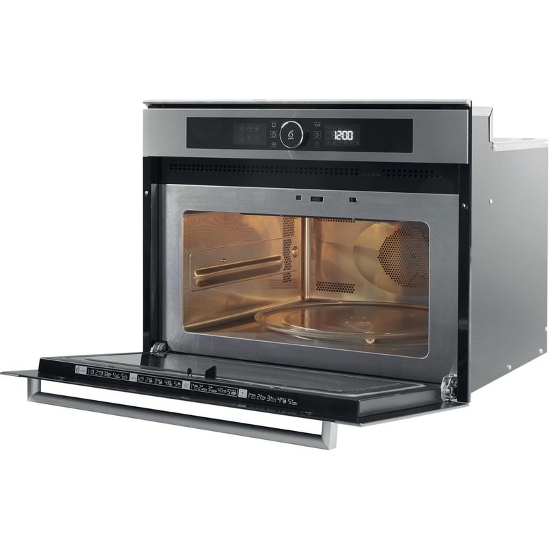 Whirlpool-Microonde-Da-incasso-AMW-509-IX-Stainless-Steel-Elettronico-40-Microonde-combinato-900-Perspective-open