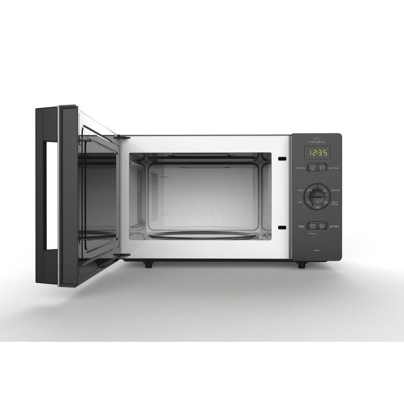 Whirlpool-Microonde-A-libera-installazione-MCP-345-BL-Nero-Elettronico-25-Microonde---grill-800-Frontal-open
