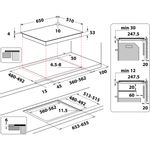 Whirlpool-Piano-cottura-SMP-658C-NE-IXL-Nero-Induction-vitroceramic-Technical-drawing