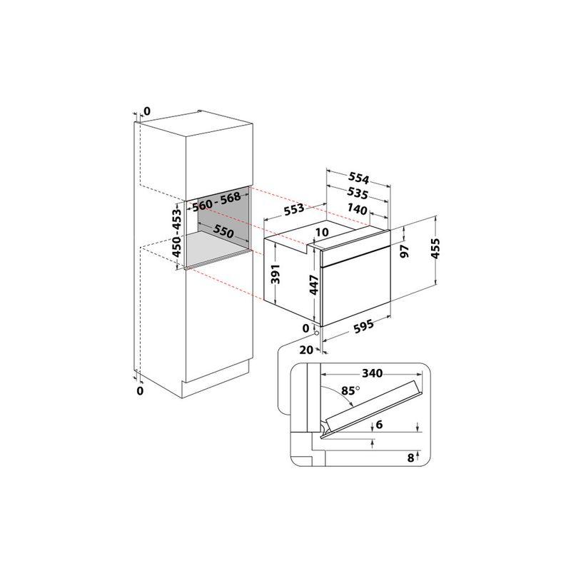 Whirlpool-Microonde-Da-incasso-AMW-9607-IX-Stainless-Steel-Elettronico-40-Microonde-combinato-900-Technical-drawing