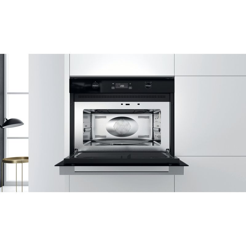 Whirlpool-Microonde-Da-incasso-W7-MW561-Stainless-Steel-Elettronico-40-Microonde-combinato-900-Lifestyle-frontal-open