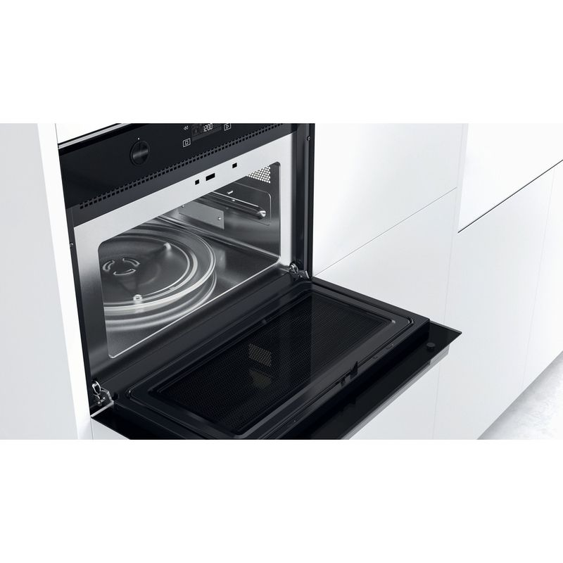 Whirlpool-Microonde-Da-incasso-W7-MW561-Stainless-Steel-Elettronico-40-Microonde-combinato-900-Lifestyle-perspective-open