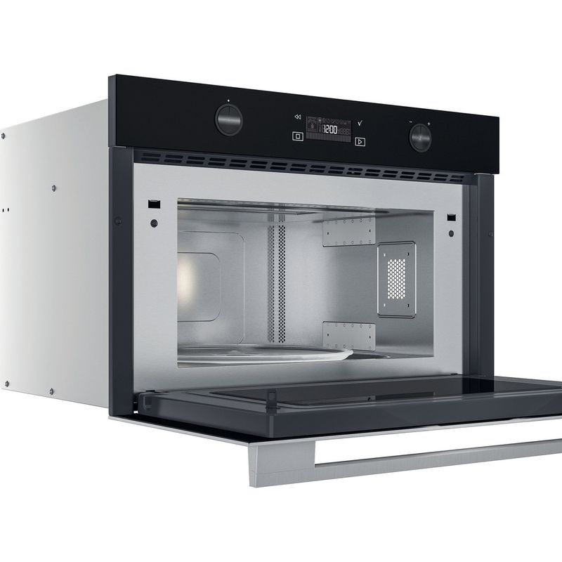 Whirlpool-Microonde-Da-incasso-W7-MD540-Stainless-Steel-Elettronico-31-Microonde---grill-1000-Perspective-open