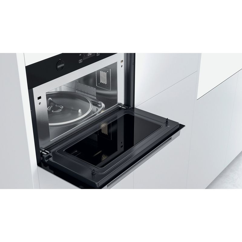 Whirlpool-Microonde-Da-incasso-W7-MD540-Stainless-Steel-Elettronico-31-Microonde---grill-1000-Lifestyle-perspective-open