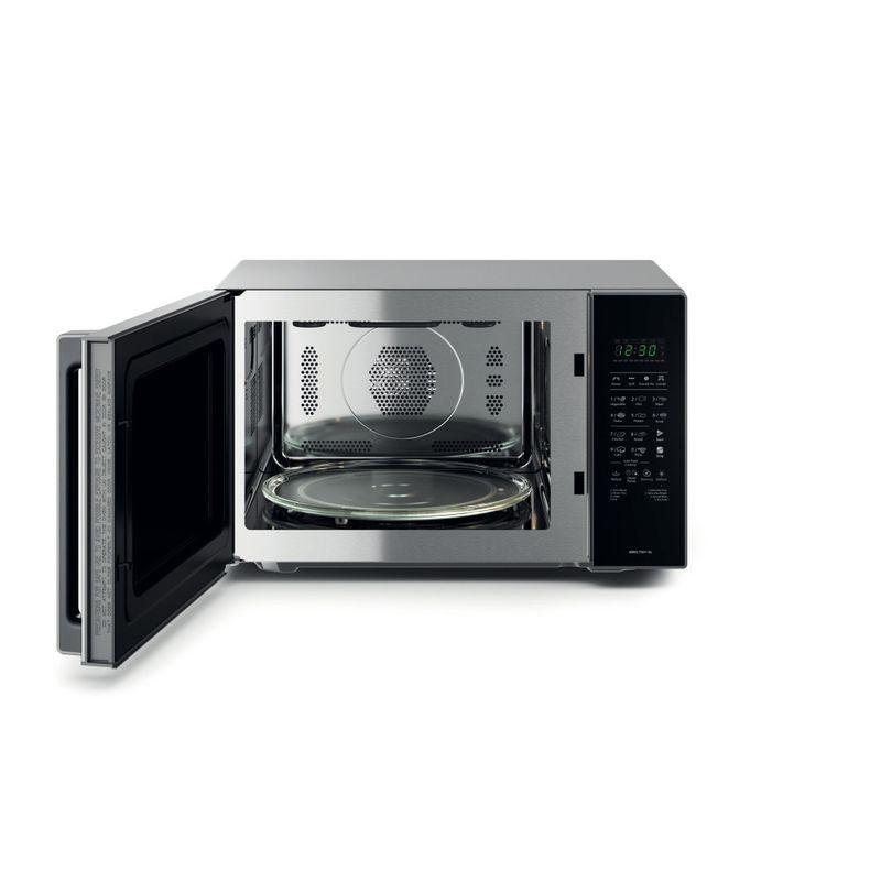 Whirlpool-Microonde-A-libera-installazione-MWO-730-1-SL-Argento-Elettronico-30-Microonde-combinato-900-Frontal_Open