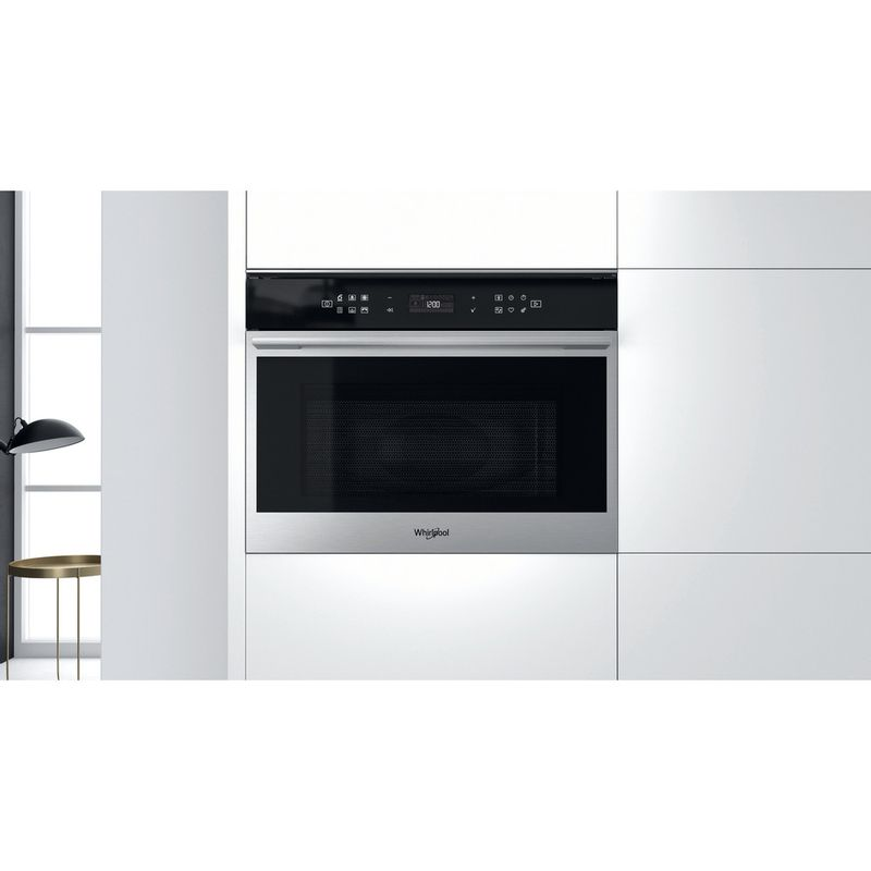 Whirlpool-Microonde-Da-incasso-W7-MW461-Stainless-Steel-Elettronico-40-Microonde-combinato-900-Lifestyle-frontal