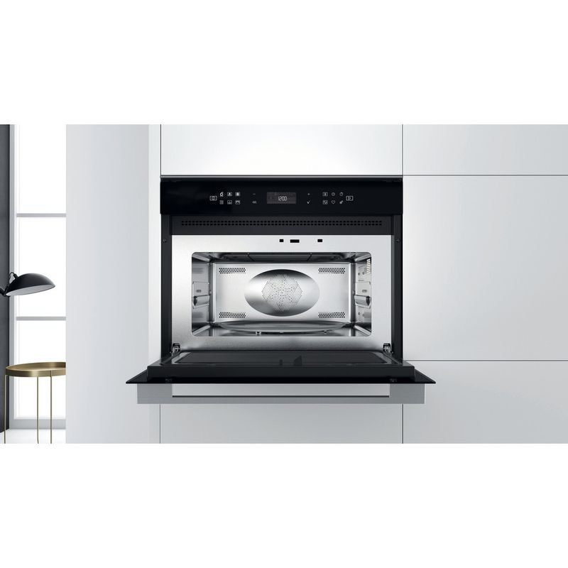 Whirlpool-Microonde-Da-incasso-W7-MW461-Stainless-Steel-Elettronico-40-Microonde-combinato-900-Lifestyle-frontal-open
