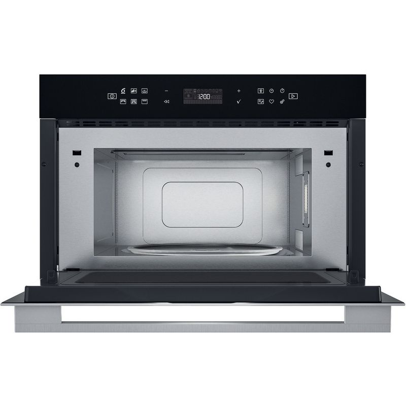 Whirlpool-Microonde-Da-incasso-W7-MD440-Stainless-Steel-Elettronico-31-Microonde---grill-1000-Frontal-open