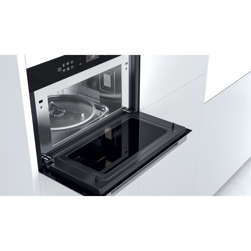 Whirlpool-Microonde-Da-incasso-W7-MD440-Stainless-Steel-Elettronico-31-Microonde---grill-1000-Lifestyle-perspective-open