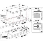 Whirlpool-Piano-cottura-SMP-9010-C-NE-IXL-Nero-Induction-vitroceramic-Technical-drawing