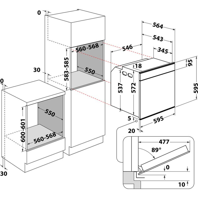 Whirlpool-Forno-Da-incasso-W9-OP2-4S2-H-Elettrico-A--Technical-drawing