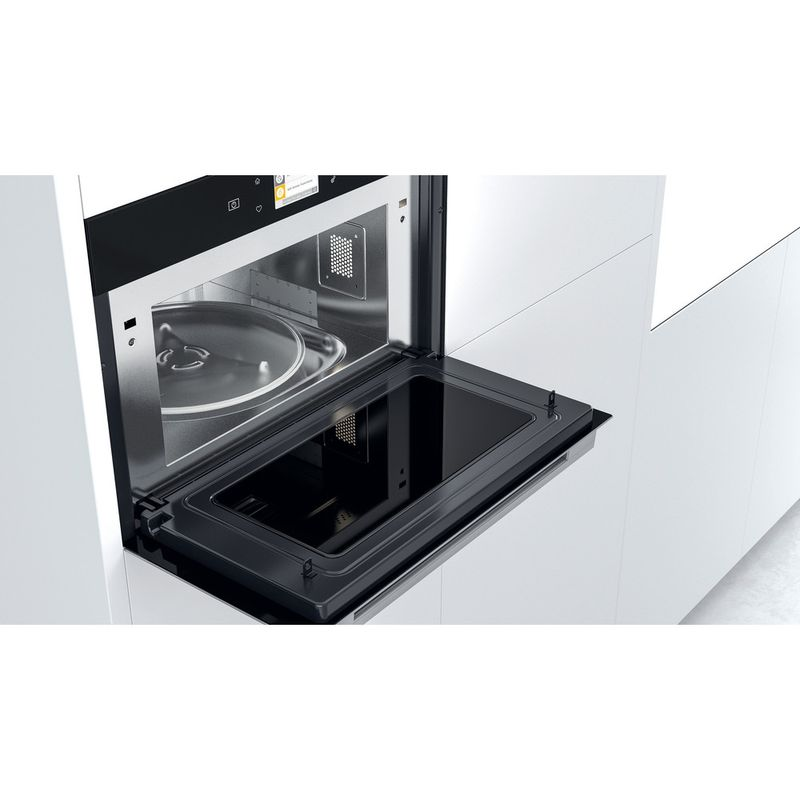 Whirlpool-Microonde-Da-incasso-W9-MD260-IXL-Stainless-Steel-Elettronico-31-Microonde-combinato-1000-Lifestyle-perspective-open