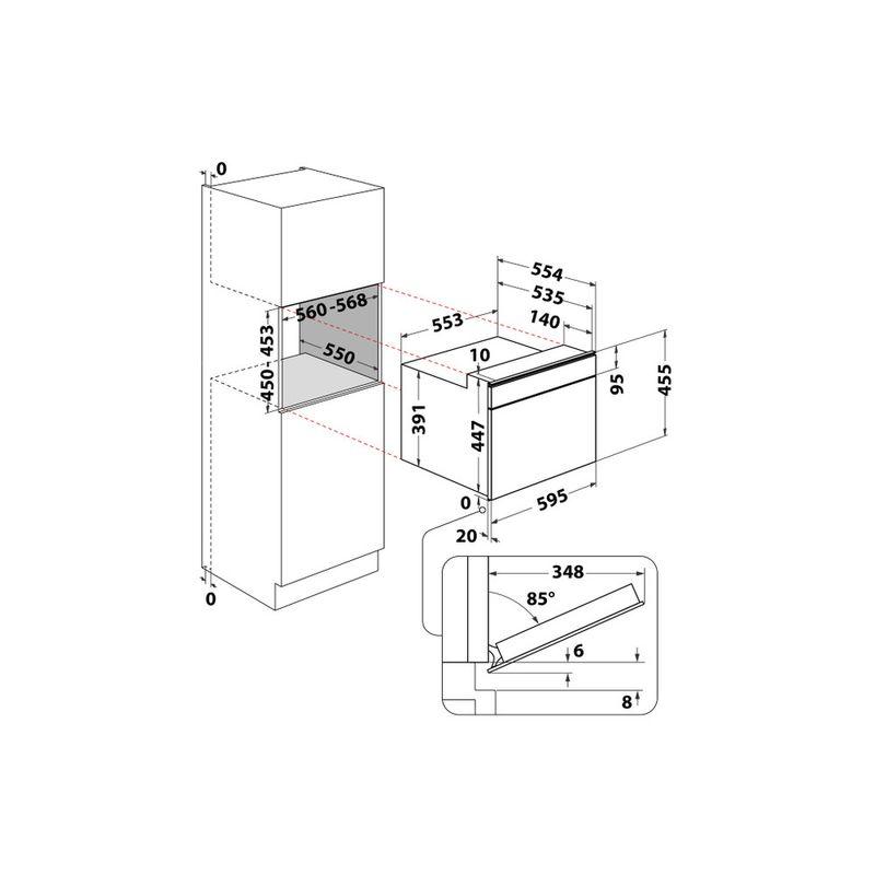 Whirlpool-Microonde-Da-incasso-W9-MW261-IXL-Stainless-Steel-Elettronico-40-Microonde-combinato-900-Technical-drawing