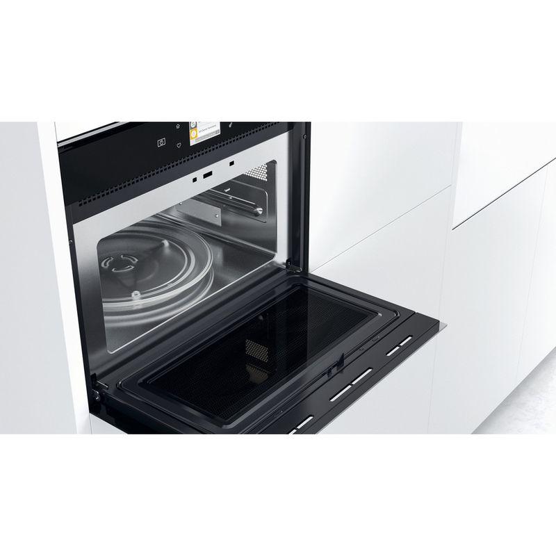 Whirlpool-Microonde-Da-incasso-W9I-MW261-Dark-Grey-Elettronico-40-Microonde-combinato-900-Lifestyle-perspective-open