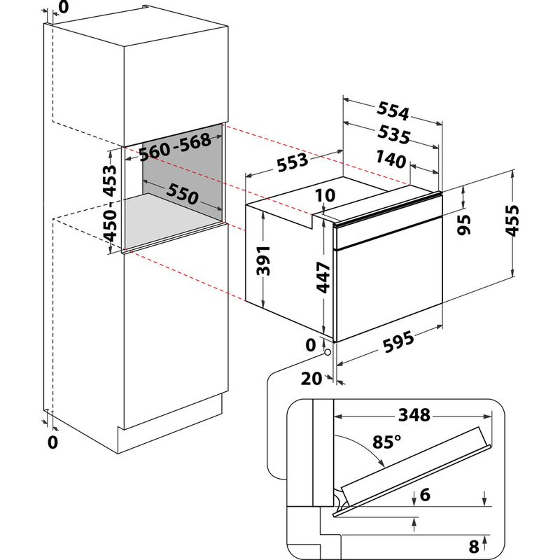 Whirlpool-Microonde-Da-incasso-W9I-MW261-Dark-Grey-Elettronico-40-Microonde-combinato-900-Technical-drawing