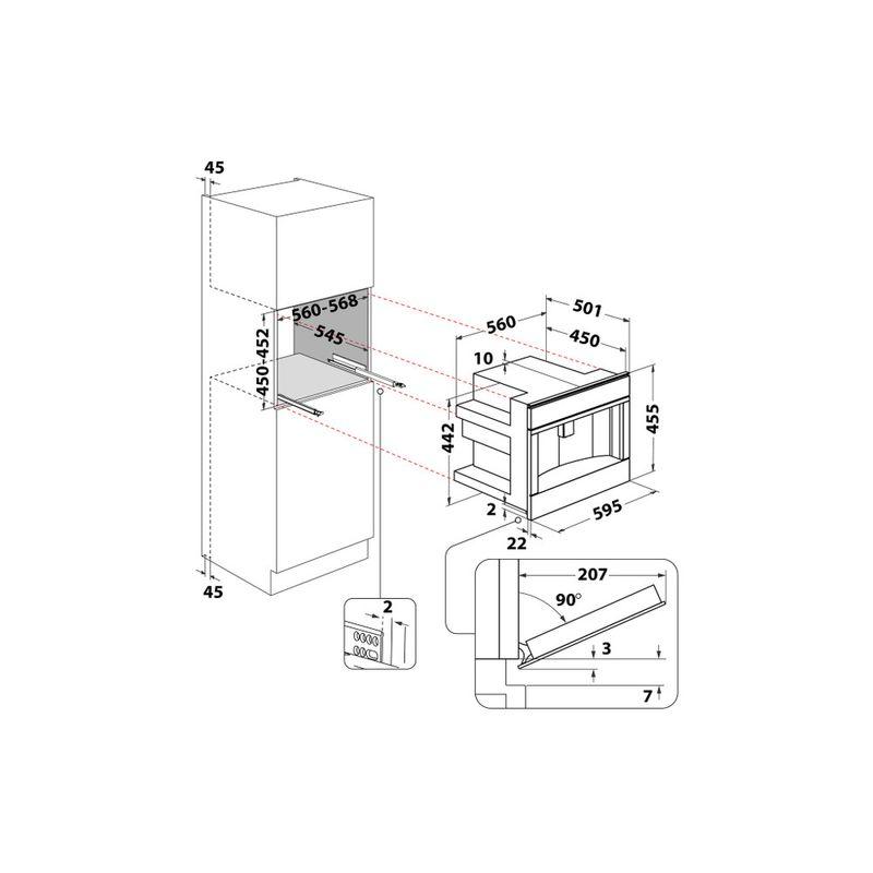 Whirlpool-Macchina-del-caffe-da-incasso-W11-CM145-Dark-Grey-Automatico-Technical-drawing