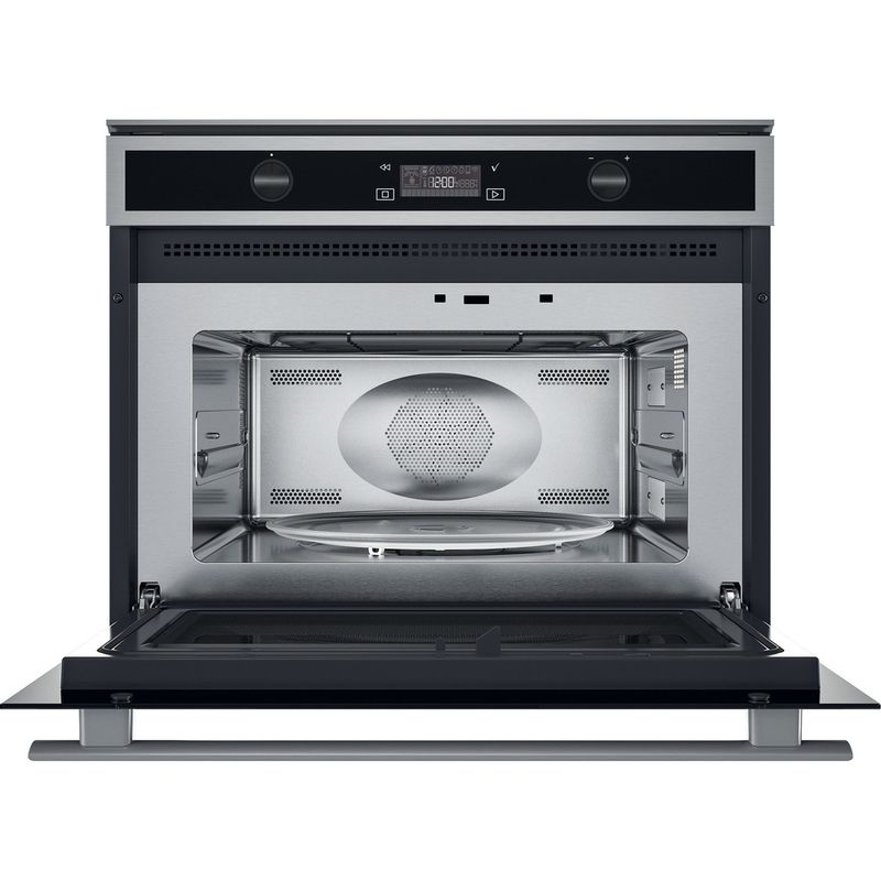 Whirlpool-Microonde-Da-incasso-W6-MW561-Stainless-Steel-Elettronico-40-Microonde-combinato-900-Frontal-open