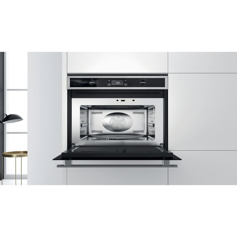 Whirlpool-Microonde-Da-incasso-W6-MW561-Stainless-Steel-Elettronico-40-Microonde-combinato-900-Lifestyle-frontal-open