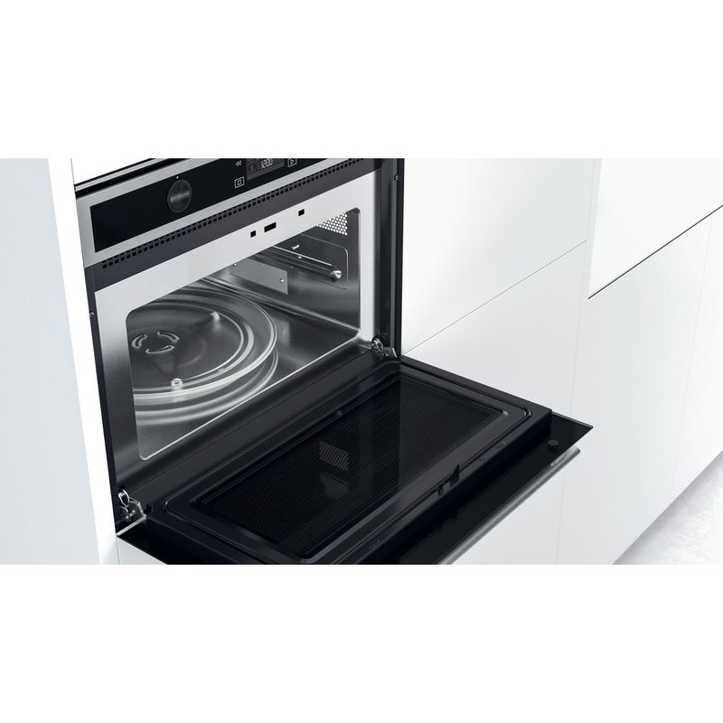 Whirlpool-Microonde-Da-incasso-W6-MW561-Stainless-Steel-Elettronico-40-Microonde-combinato-900-Lifestyle-perspective-open