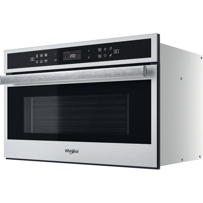 Whirlpool-Microonde-Da-incasso-W6-MD460-Stainless-Steel-Elettronico-31-Microonde-combinato-1000-Perspective