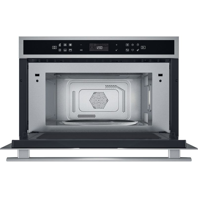 Whirlpool-Microonde-Da-incasso-W6-MD460-Stainless-Steel-Elettronico-31-Microonde-combinato-1000-Frontal-open