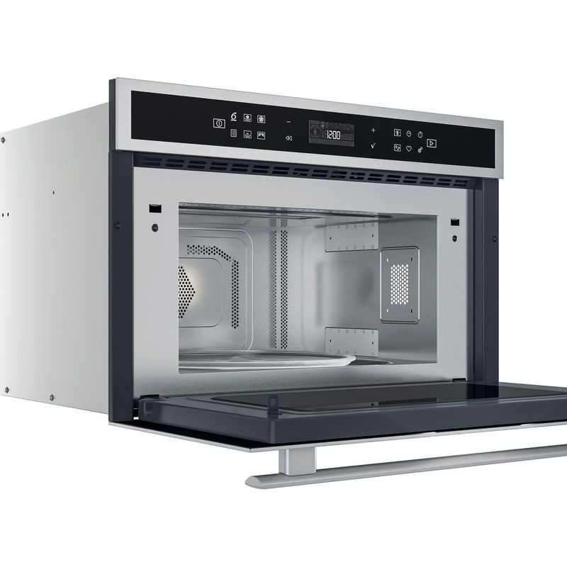 Whirlpool-Microonde-Da-incasso-W6-MD460-Stainless-Steel-Elettronico-31-Microonde-combinato-1000-Perspective-open